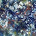 #1099 Willard Art, abstract oil painting