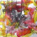 Willard Art, Abstract Watercolor, Mixed Media, Acrylic Ink, Pen&Ink