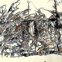 #711, Abstract Drawing, Surrealism, Pen & Ink & Watercolor, One of a Kind, Fine Art
