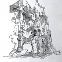 Abstract Drawing, surrealism, Art under $500. Pen & Ink