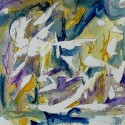 #821 abstract watercolor, art under $500