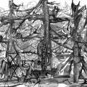 #844, Willard Art, watercolor, Pen & Ink,