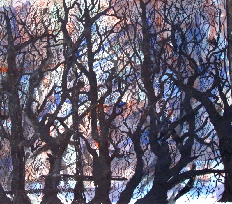 #1088 Watercolor trees