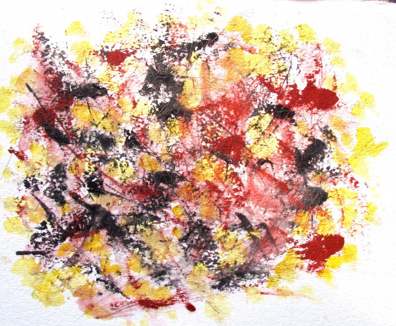 #1094 Oil on paper