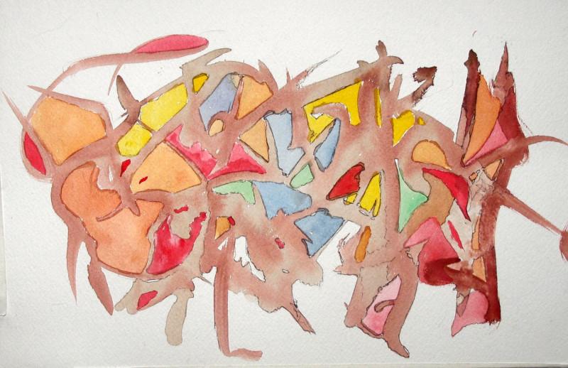 #1123 Watercolor, ink
