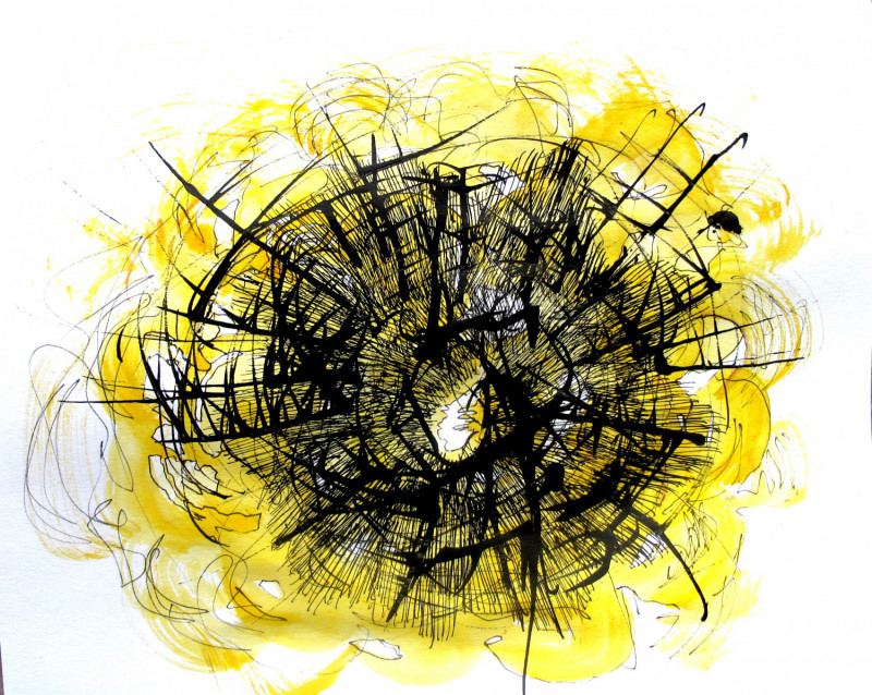 #1139 Scribble with Yellow
