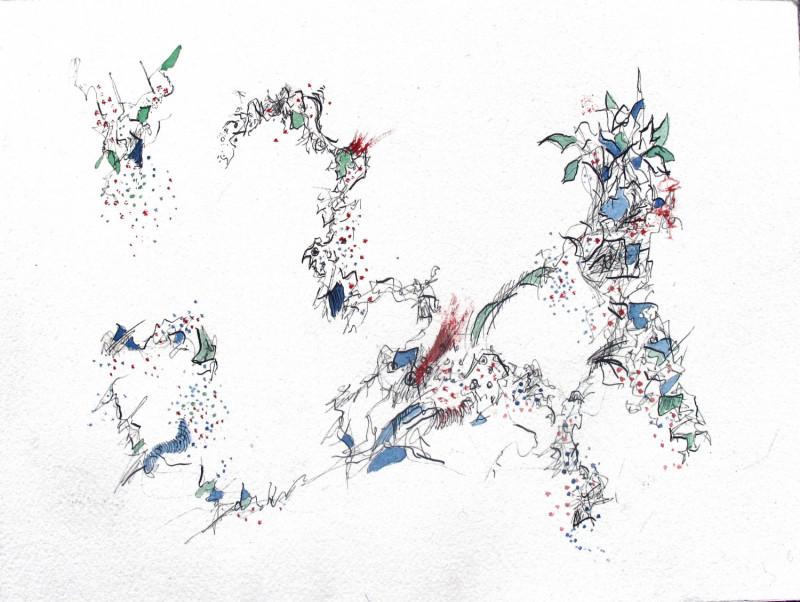 #1141 Pen & Ink, watercolor
