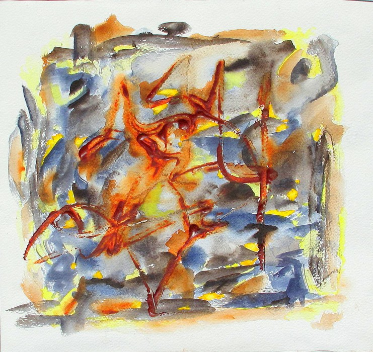 watercolor, abstract painting