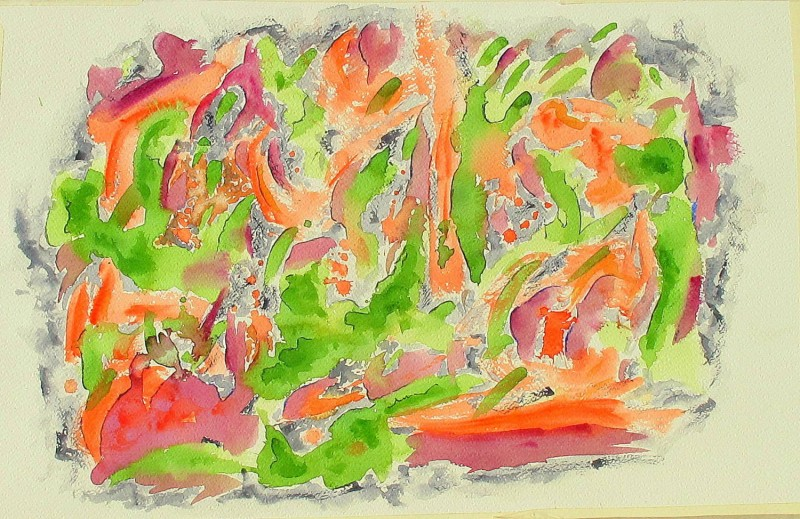 abstract painting, watercolor