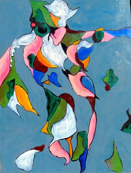 #807 abstract acrylic, DANCE!