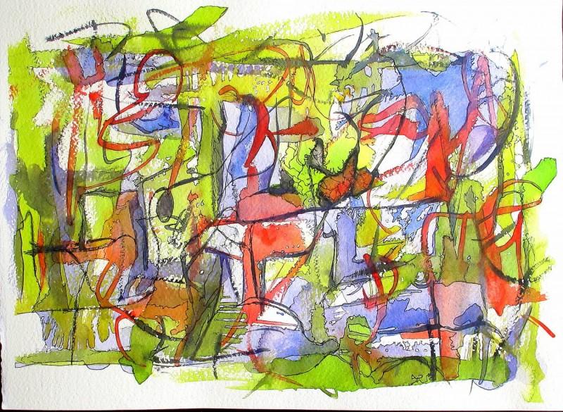#838 Watercolor, ink